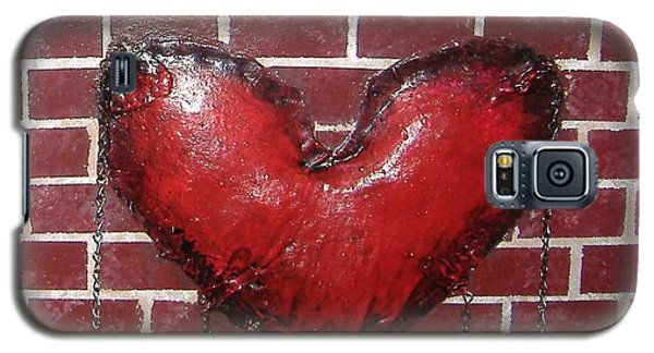 Galaxy S5 Case featuring the mixed media Daphnes Heart by Steve  Hester