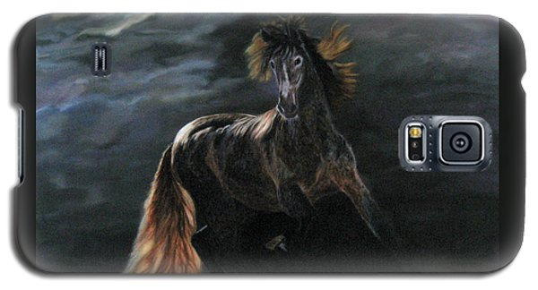 Galaxy S5 Case featuring the painting Dappled Horse In Stormy Light by LaVonne Hand