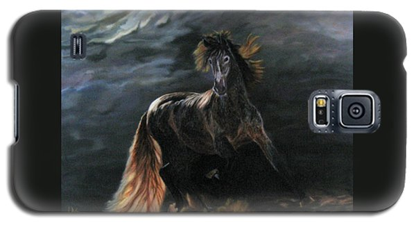 Dappled Horse In Stormy Light Galaxy S5 Case by LaVonne Hand