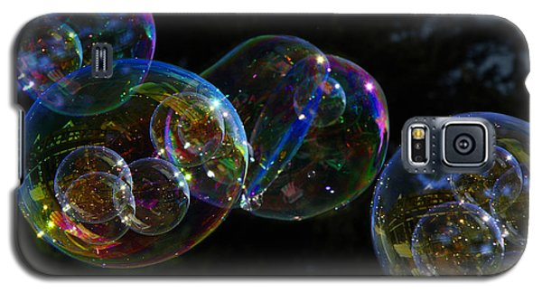 Galaxy S5 Case featuring the photograph Dark Bubbles With Babies by Nareeta Martin