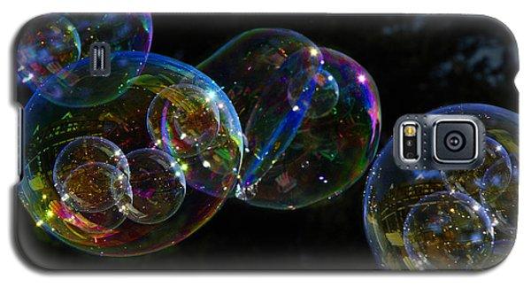 Dark Bubbles With Babies Galaxy S5 Case by Nareeta Martin