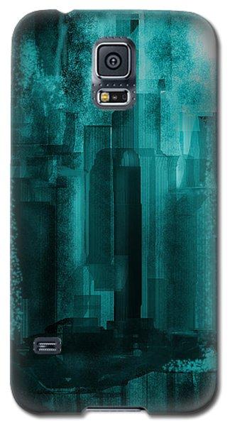 Galaxy S5 Case featuring the digital art Dark City by Martina  Rathgens