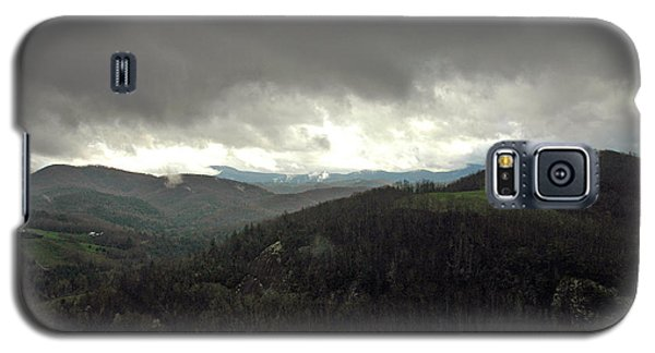 Galaxy S5 Case featuring the photograph Dark Clouds Over Cashiers by Allen Carroll