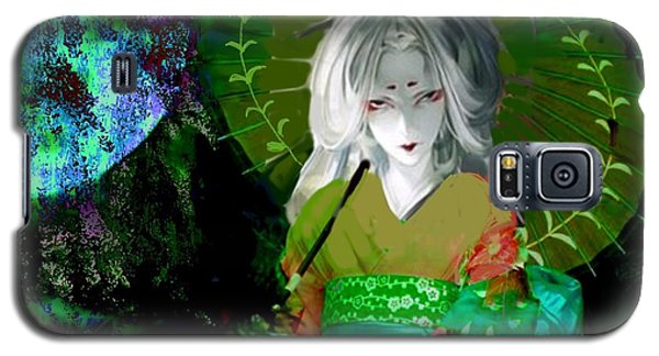 Galaxy S5 Case featuring the digital art Dark Giesha by Diana Riukas