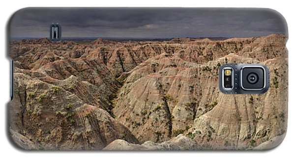 Galaxy S5 Case featuring the photograph Dark Panorama Over The South Dakota Badlands by Sebastien Coursol