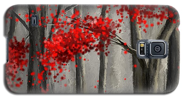Dark Passion- Red And Gray Art Galaxy S5 Case