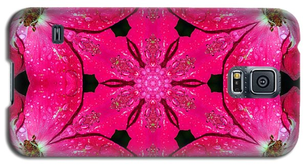 Dark Pink Splendor Mandala Galaxy S5 Case