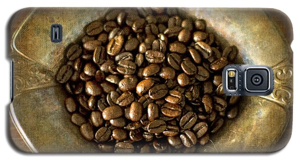 Dark Roast Coffee Beans And Antique Silver Galaxy S5 Case