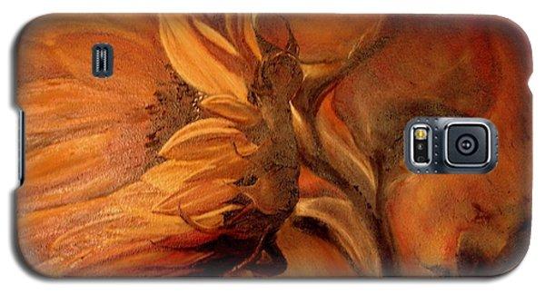 Dark Sunflower Galaxy S5 Case