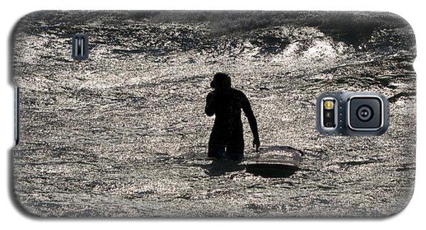 Galaxy S5 Case featuring the photograph Dark Surf by Tara Lynn