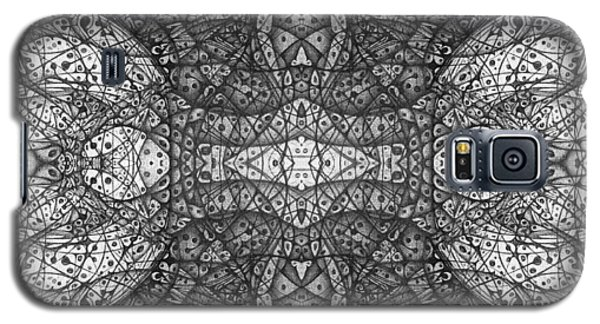 Galaxy S5 Case featuring the drawing Dark Symetry by Jack Dillhunt