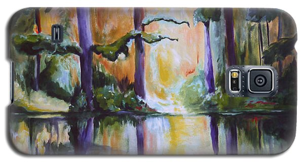 Galaxy S5 Case featuring the painting Dark Woods by Nadine Dennis