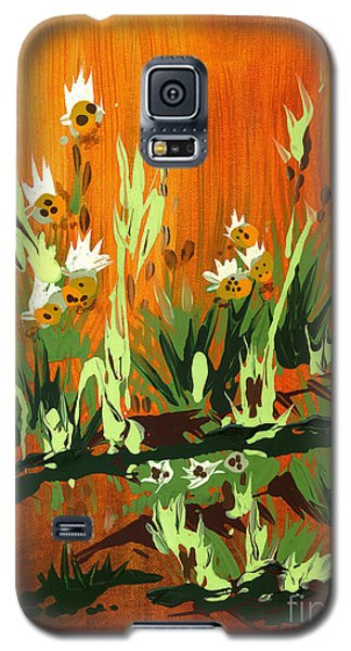 Galaxy S5 Case featuring the painting Darlinettas by Holly Carmichael