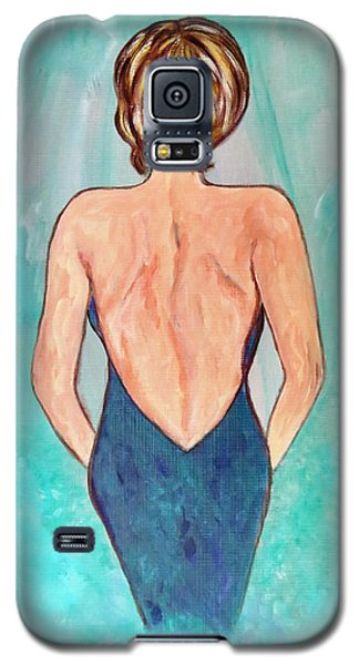 Galaxy S5 Case featuring the painting Date Night by Ella Kaye Dickey