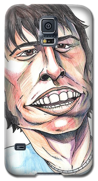 Galaxy S5 Case featuring the drawing Dave Grohl Caricature by John Ashton Golden