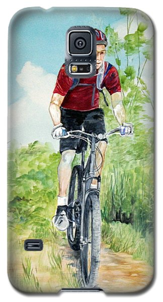 Galaxy S5 Case featuring the painting Dave On The Trail by Ellen Canfield