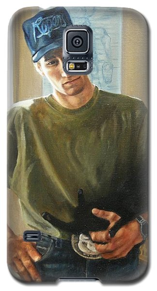 Galaxy S5 Case featuring the painting David And Pulim by Lori Brackett
