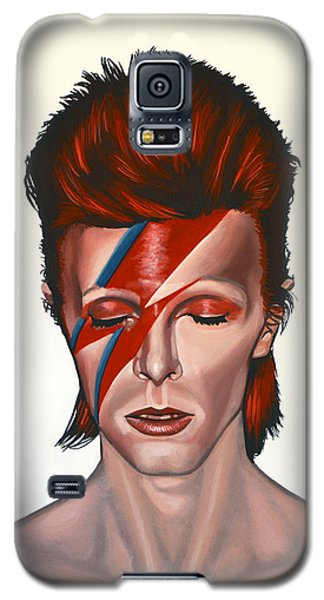 David Bowie Aladdin Sane Galaxy S5 Case by Paul Meijering