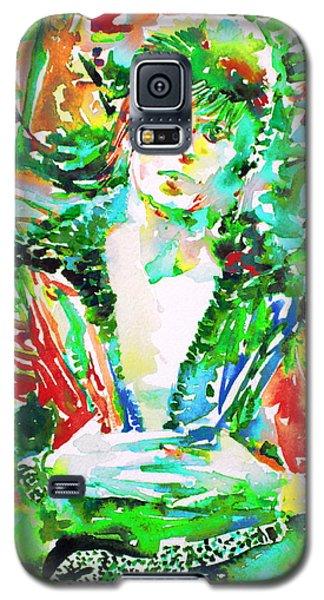 David Bowie Watercolor Portrait.2 Galaxy S5 Case