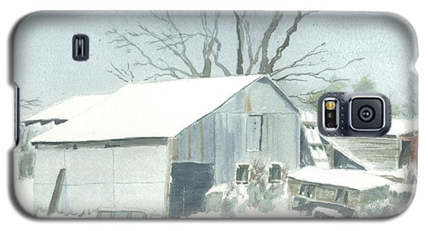 Galaxy S5 Case featuring the painting David Hoyles Shed by Joel Deutsch