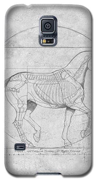 Da Vinci Horse Piaffe Grayscale Galaxy S5 Case