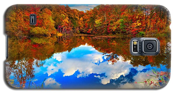 Davis Pond Reflections Galaxy S5 Case by Steven Llorca
