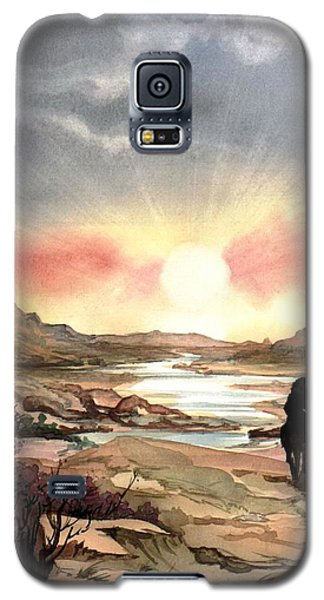 Dawn In The Valley Galaxy S5 Case