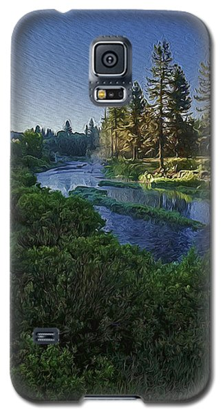 Galaxy S5 Case featuring the photograph Dawn On The River by Nancy Marie Ricketts