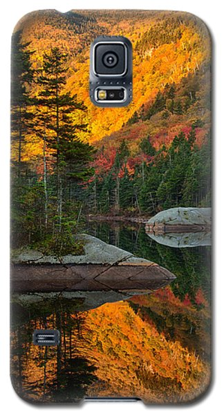 Galaxy S5 Case featuring the photograph Dawns Foliage Reflection by Jeff Folger