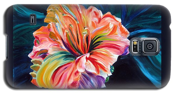 Galaxy S5 Case featuring the painting Day Lily by LaVonne Hand