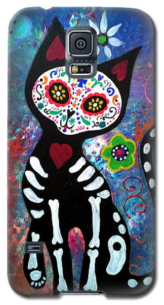 Day Of The Dead Cat Galaxy S5 Case