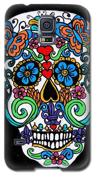 Day Of The Dead Skull Galaxy S5 Case