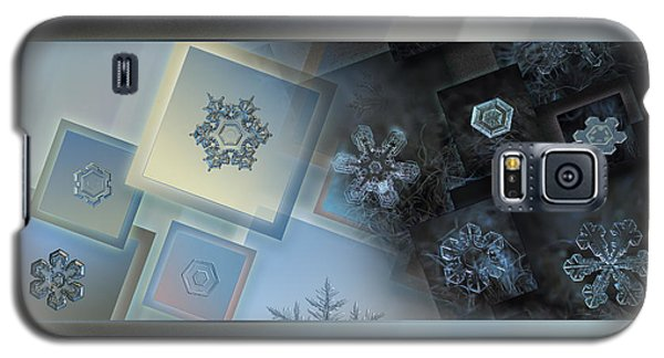 Snowflake Collage - Daybreak Galaxy S5 Case by Alexey Kljatov
