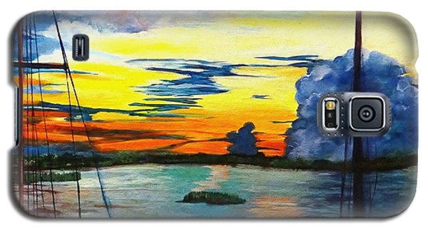 Daybreak Over  Apalachicola River  Galaxy S5 Case by Ecinja Art Works