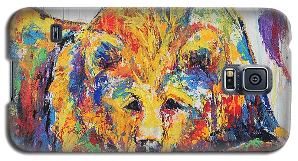 Galaxy S5 Case featuring the painting Daydreaming Bear by Jennifer Godshalk