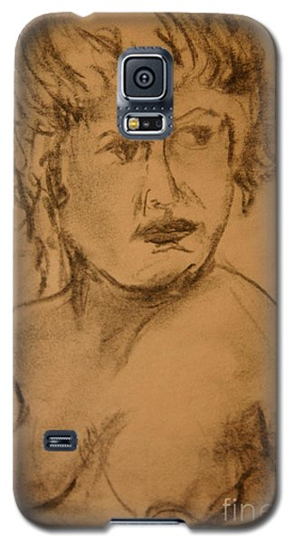 Galaxy S5 Case featuring the drawing Daydreaming Nude by Gabrielle Schertz
