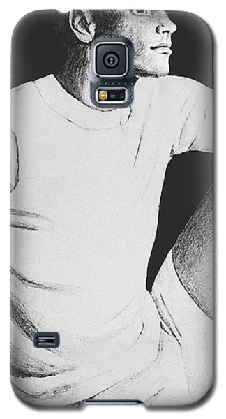 Galaxy S5 Case featuring the drawing Daydreaming by Sophia Schmierer