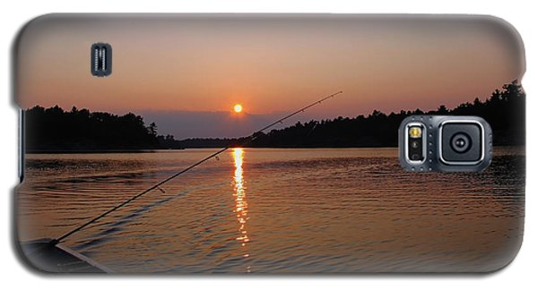 Galaxy S5 Case featuring the photograph Sunset Fishing by Debbie Oppermann