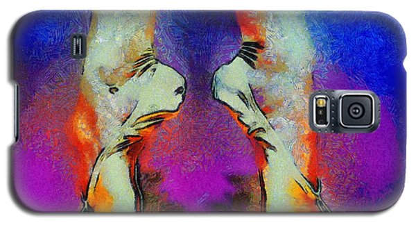 Galaxy S5 Case featuring the painting Dazzling Dancing Shoes by Kai Saarto