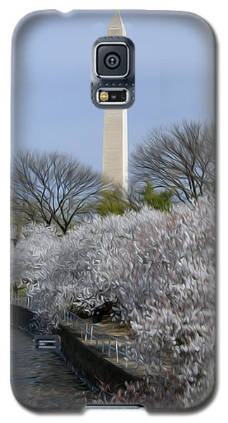 Galaxy S5 Case featuring the digital art Dc Blossoms by Kelvin Booker