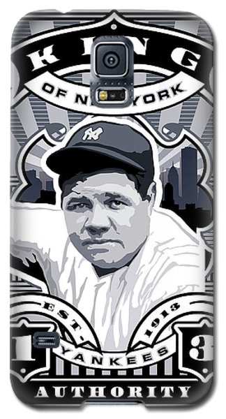 Dcla Babe Ruth Kings Of New York Stamp Artwork Galaxy S5 Case by David Cook Los Angeles