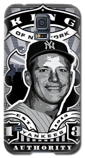 Dcla Mickey Mantle Kings Of New York Stamp Artwork Galaxy S5 Case by David Cook Los Angeles
