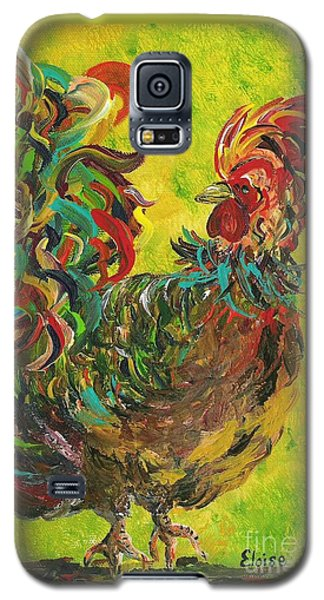 De Colores Rooster #2 Galaxy S5 Case by Eloise Schneider