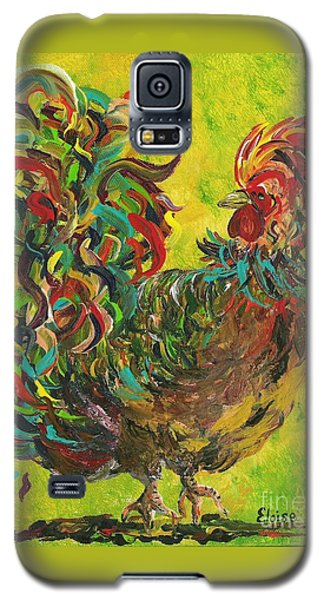 Galaxy S5 Case featuring the painting De Colores Rooster #2 by Eloise Schneider