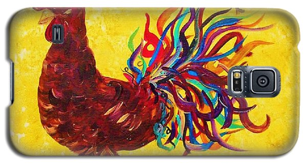 Galaxy S5 Case featuring the painting De Colores Rooster by Eloise Schneider