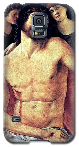 Galaxy S5 Case featuring the painting Dead Christ Supported By Angels 1485 Giovanni Bellini by Karon Melillo DeVega