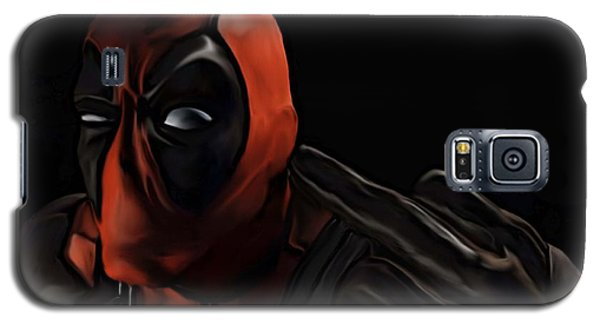 Galaxy S5 Case featuring the painting Deadpool by Jeff DOttavio