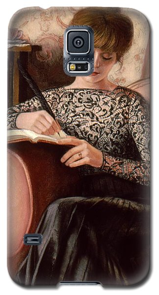 Galaxy S5 Case featuring the painting Dear Diary by Sue Halstenberg