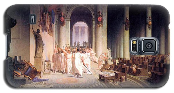 Death Of Caesar Galaxy S5 Case by Jean Leon Gerome
