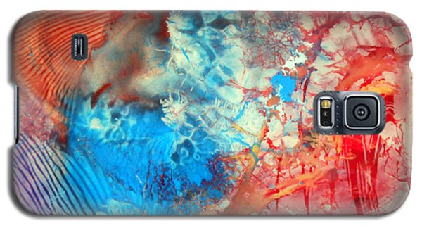Galaxy S5 Case featuring the painting Decalcomaniac Colorfield Abstraction Without Number by Otto Rapp